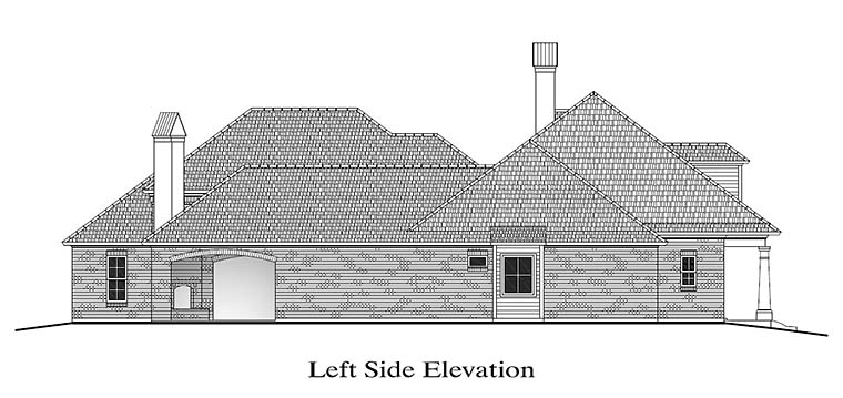 Colonial, French Country, Southern House Plan 40316 with 4 Beds, 4 Baths, 2 Car Garage Picture 1