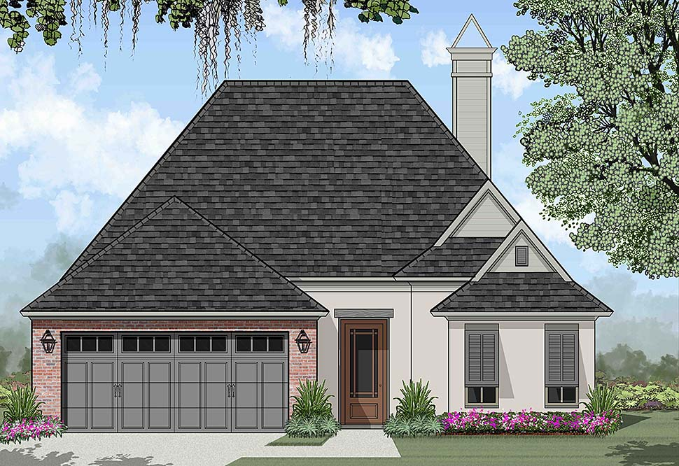 European, French Country House Plan 40317 with 3 Beds , 2 Baths , 2 Car Garage Elevation