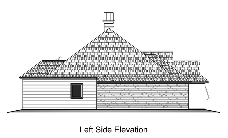 European, French Country House Plan 40317 with 3 Beds, 2 Baths, 2 Car Garage Picture 2