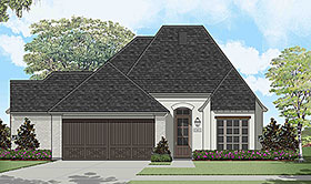 European , French Country House Plan 40318 with 3 Beds, 2 Baths, 2 Car Garage Elevation