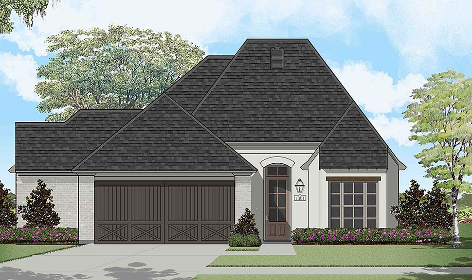 European, French Country House Plan 40318 with 3 Beds, 2 Baths, 2 Car Garage Elevation