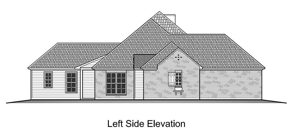 European, French Country House Plan 40318 with 3 Beds, 2 Baths, 2 Car Garage Picture 2