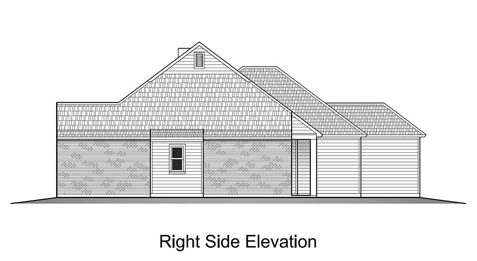 Colonial, French Country, Southern House Plan 40319 with 3 Beds, 2 Baths, 2 Car Garage Picture 1