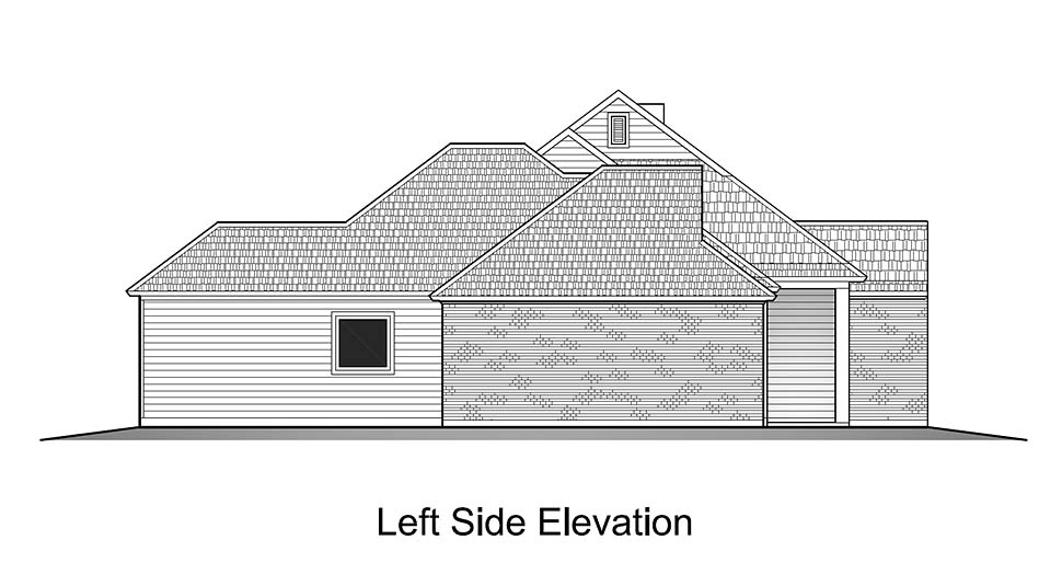 Colonial, French Country, Southern House Plan 40319 with 3 Beds, 2 Baths, 2 Car Garage Picture 2