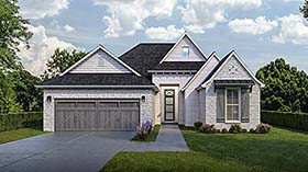 House Plan 40320 | European French Country Style Plan with 1693 Sq Ft, 3 Bedrooms, 2 Bathrooms, 2 Car Garage Elevation