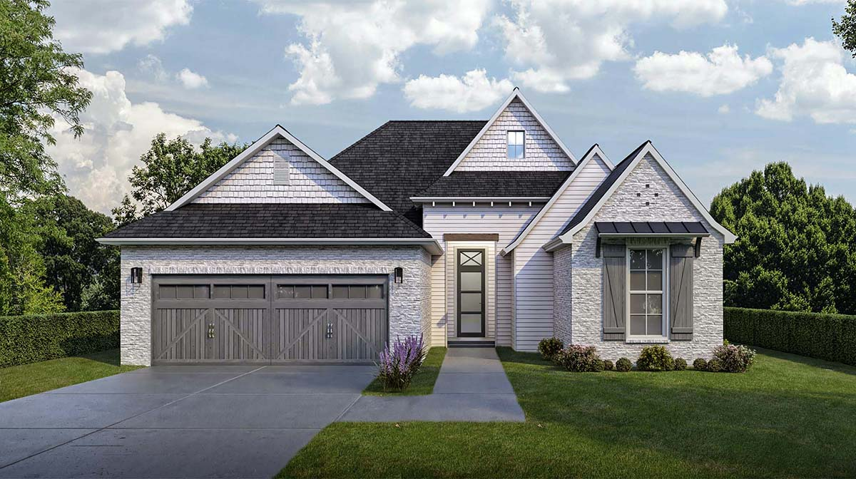 European, French Country House Plan 40320 with 3 Beds, 2 Baths, 2 Car Garage Elevation