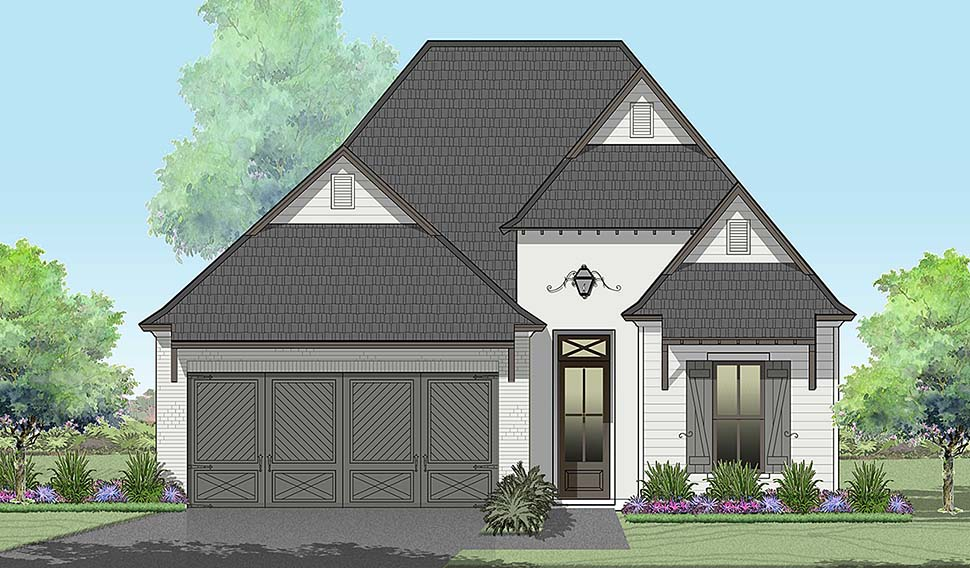 European , French Country House Plan 40321 with 3 Beds, 2 Baths, 2 Car Garage Elevation