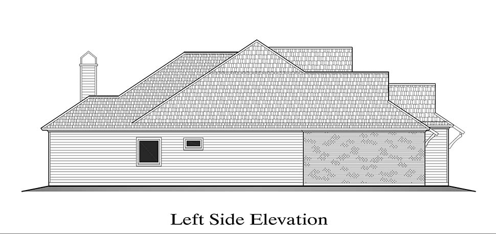 European, French Country House Plan 40321 with 3 Beds, 2 Baths, 2 Car Garage Picture 2