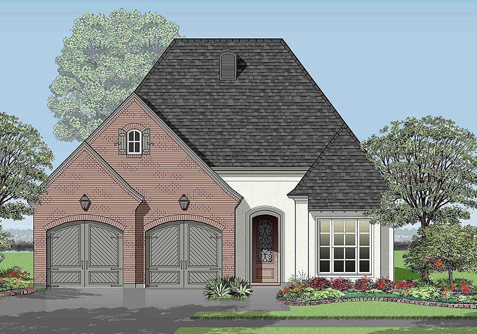 European , French Country House Plan 40322 with 3 Beds, 2 Baths, 2 Car Garage Elevation