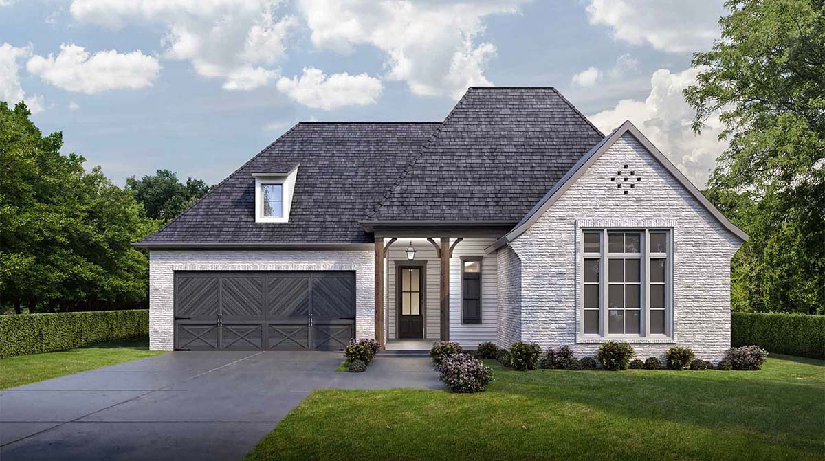 House Plan 40323 | European French Country Style Plan with 1793 Sq Ft, 4 Bedrooms, 2 Bathrooms, 2 Car Garage Elevation