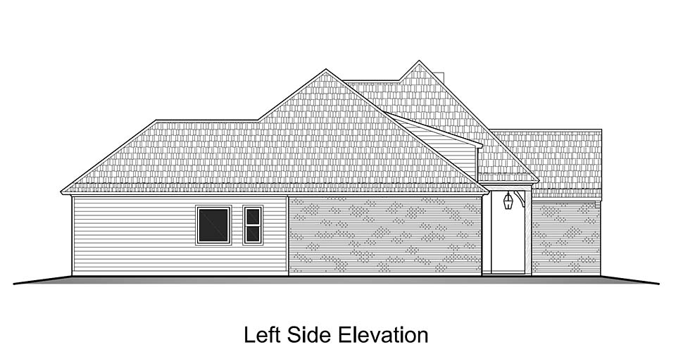 European, French Country House Plan 40323 with 4 Beds, 2 Baths, 2 Car Garage Picture 2