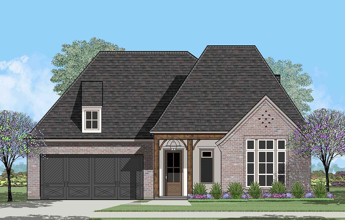 European, French Country House Plan 40323 with 4 Beds, 2 Baths, 2 Car Garage Picture 3