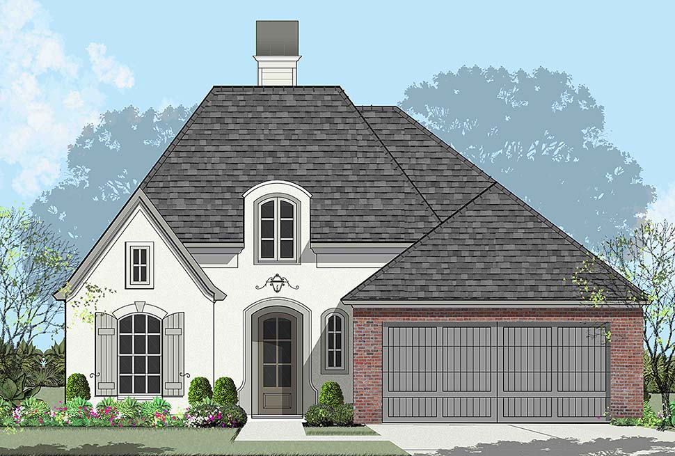 European , French Country House Plan 40326 with 4 Beds, 2 Baths, 2 Car Garage Elevation