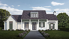 House Plan 40328 | Country French Country Southern Style Plan with 2408 Sq Ft, 4 Bedrooms, 3 Bathrooms, 2 Car Garage Elevation