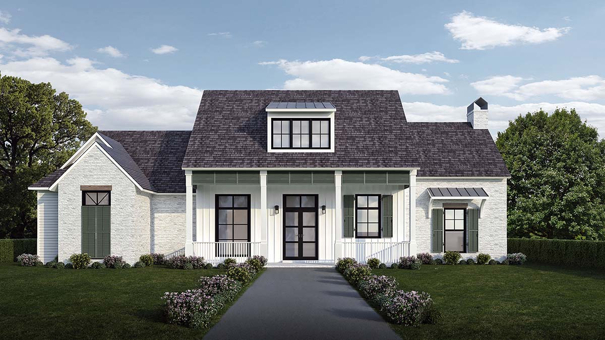 Country , French Country , Southern , Elevation of Plan 40328