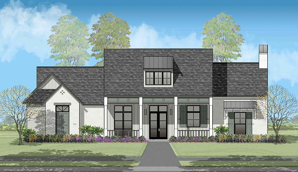 Country, French Country, Southern House Plan 40328 with 4 Beds, 3 Baths, 2 Car Garage Picture 13