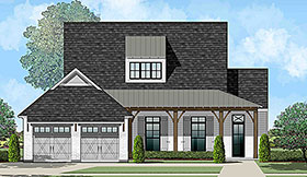 Country , French Country , Southern House Plan 40329 with 4 Beds, 3 Baths, 2 Car Garage Elevation