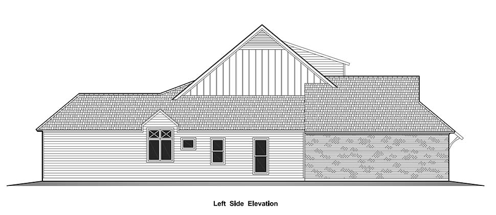 Country, French Country, Southern House Plan 40329 with 4 Beds, 3 Baths, 2 Car Garage Picture 2