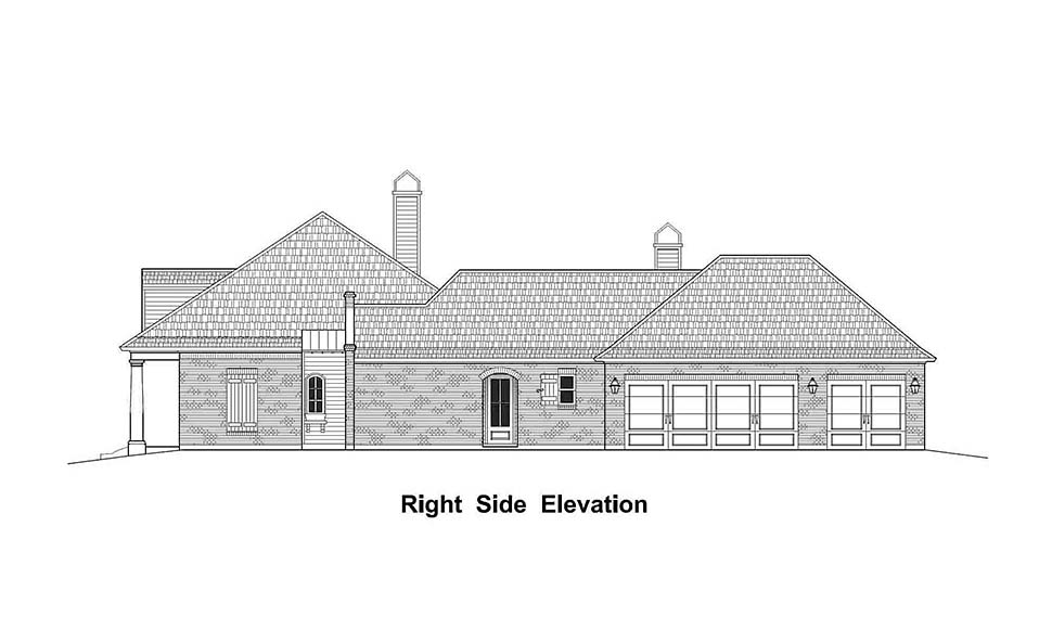 Country, French Country, Southern House Plan 40331 with 4 Beds, 4 Baths, 3 Car Garage Picture 1