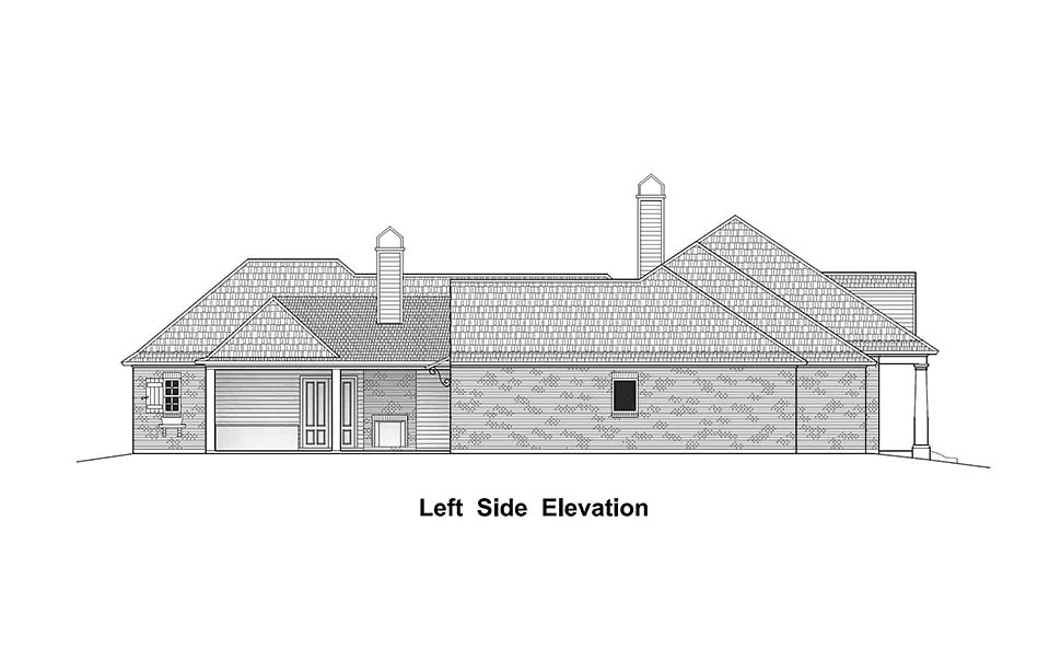 Country, French Country, Southern House Plan 40331 with 4 Beds, 4 Baths, 3 Car Garage Picture 2