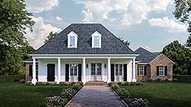 Colonial , Country , French Country , Southern House Plan 40332 with 4 Beds, 3 Baths, 3 Car Garage Elevation