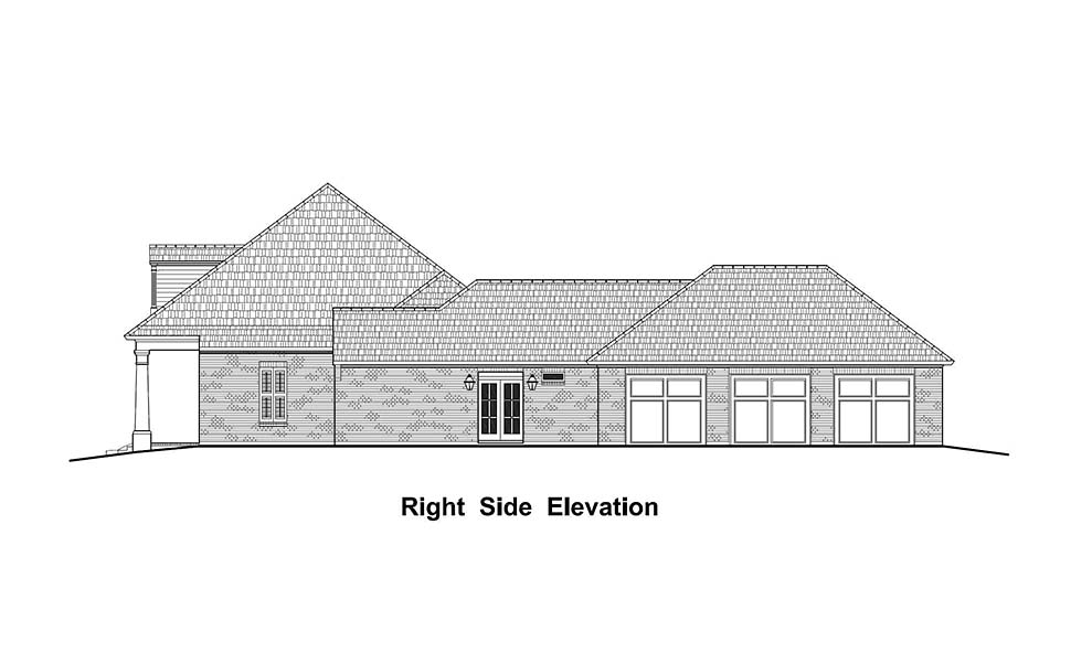 Colonial, Country, French Country, Southern House Plan 40332 with 4 Beds, 3 Baths, 3 Car Garage Picture 1