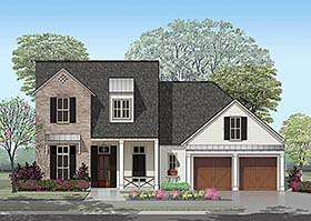 French Country , Traditional House Plan 40334 with 4 Beds, 4 Baths, 2 Car Garage Elevation