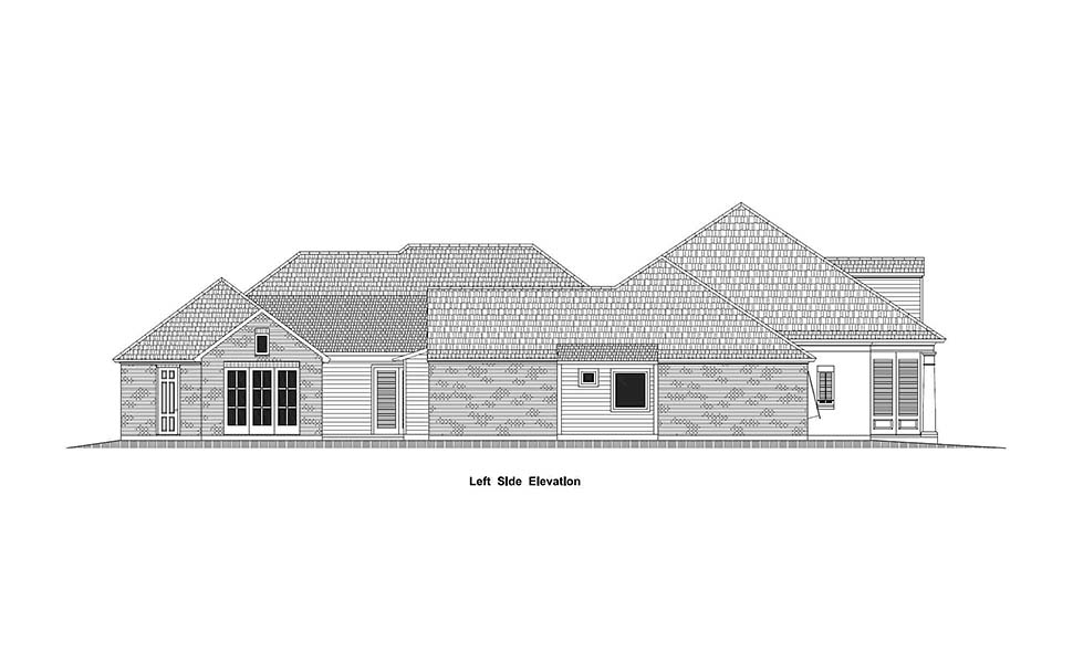 Country, French Country, Southern House Plan 40336 with 4 Beds, 5 Baths, 3 Car Garage Picture 2