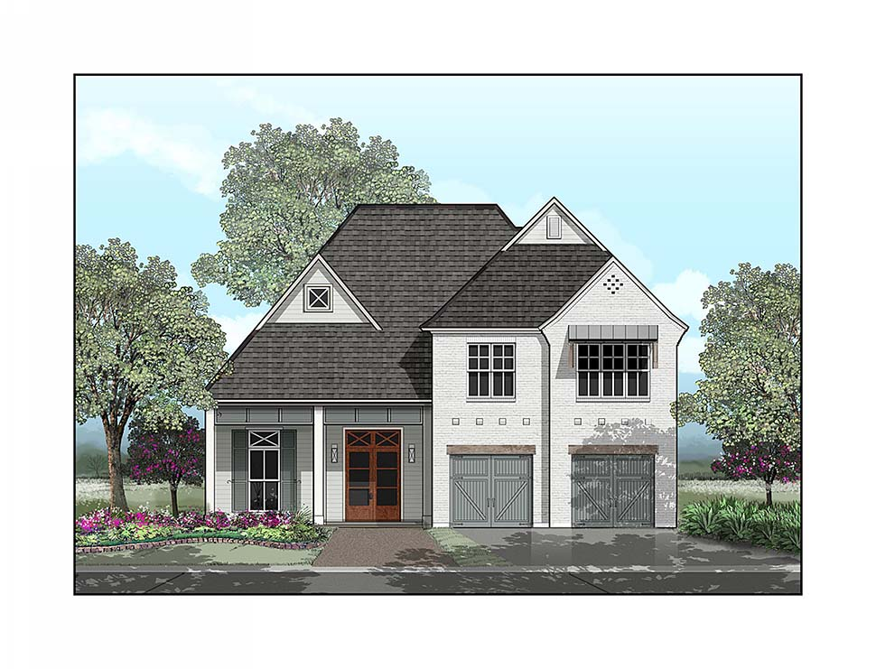 Country, European, French Country House Plan 40337 with 4 Beds, 4 Baths, 2 Car Garage Picture 7