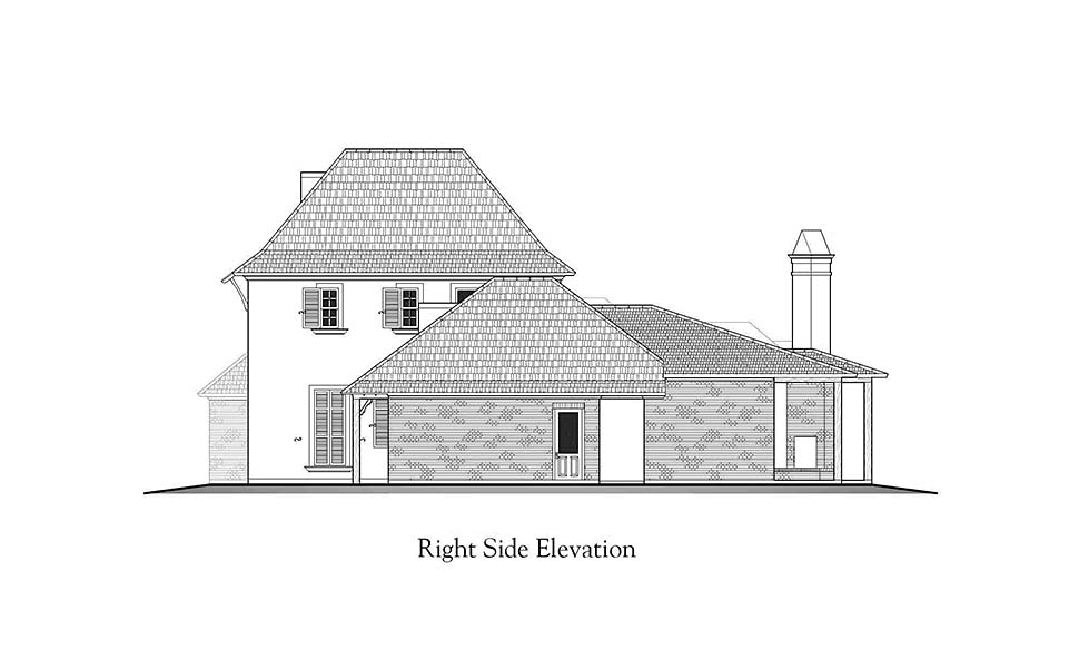 European, French Country, Southern House Plan 40338 with 4 Beds, 5 Baths, 3 Car Garage Picture 1