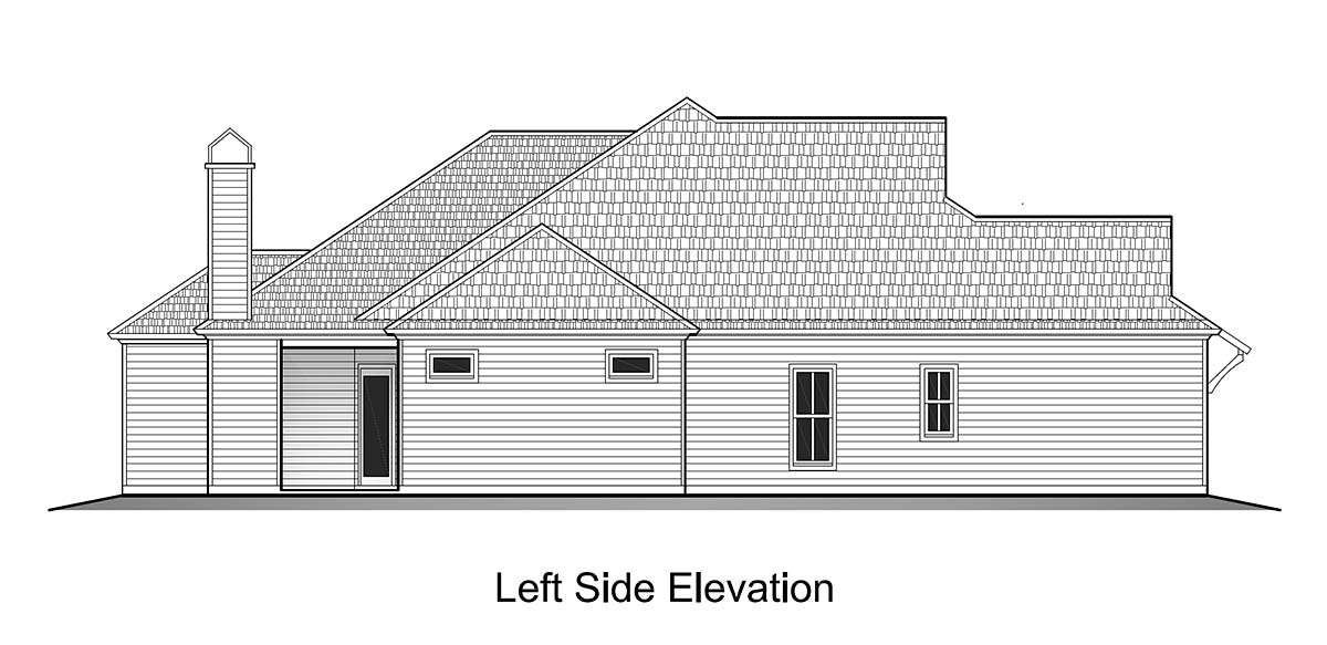 Cottage House Plan 40340 with 3 Beds, 3 Baths, 2 Car Garage Picture 2