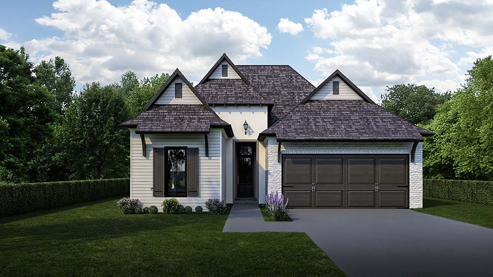 Cottage House Plan 40340 with 3 Beds, 3 Baths, 2 Car Garage Picture 3