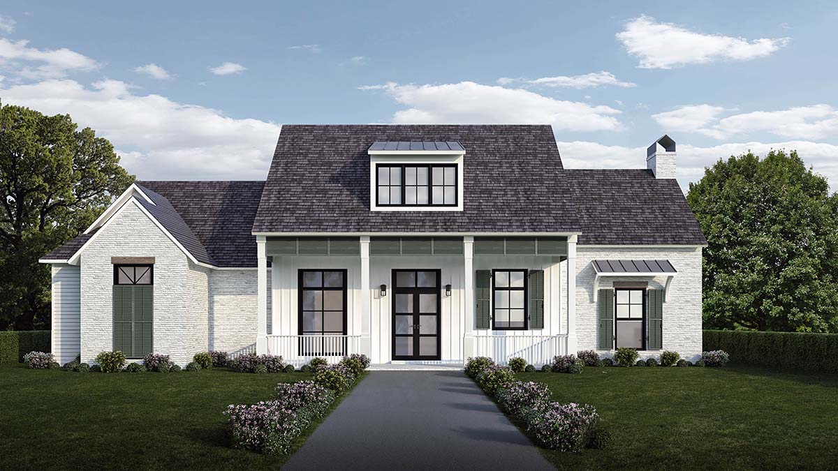 Country , Farmhouse , Southern House Plan 40341 with 4 Beds, 4 Baths, 2 Car Garage Elevation