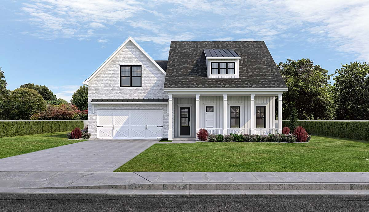 Farmhouse House Plan 40350 with 4 Beds, 3 Baths, 2 Car Garage Elevation