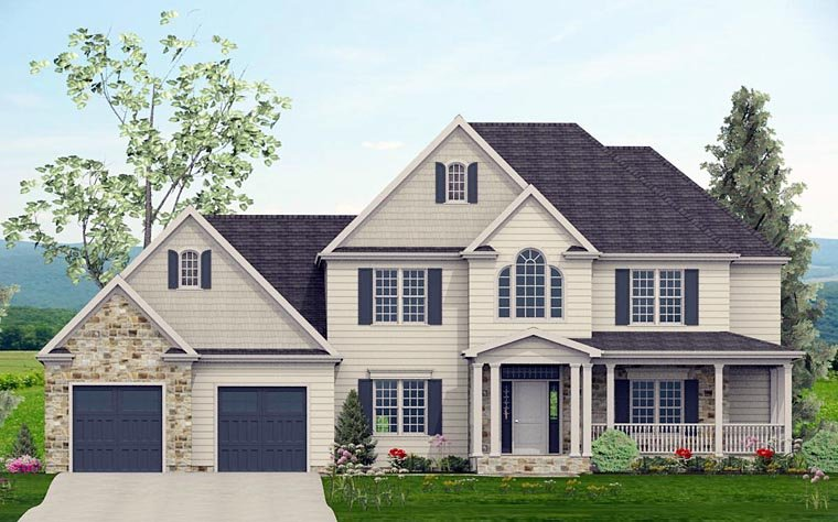 Colonial , Country , Southern , Traditional House Plan 40506 with 4 Beds, 4 Baths, 2 Car Garage Elevation
