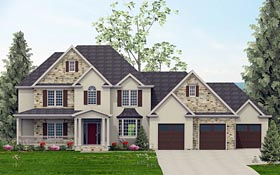 Plan Number 40507 - 3283 Square Feet