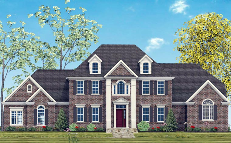 Colonial, Southern House Plan 40517 with 4 Beds, 5 Baths, 2 Car Garage Front Elevation