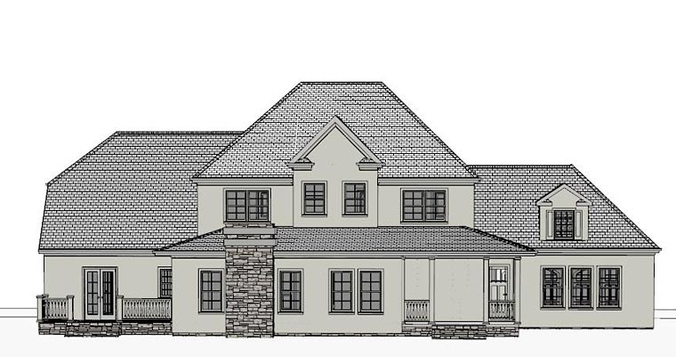 Colonial, Southern House Plan 40517 with 4 Beds, 5 Baths, 2 Car Garage Rear Elevation