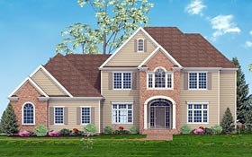 Traditional , Southern , European House Plan 40520 with 5 Beds, 4 Baths, 3 Car Garage Elevation