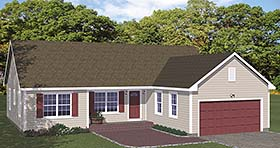 Plan Number 40602 - 1380 Square Feet