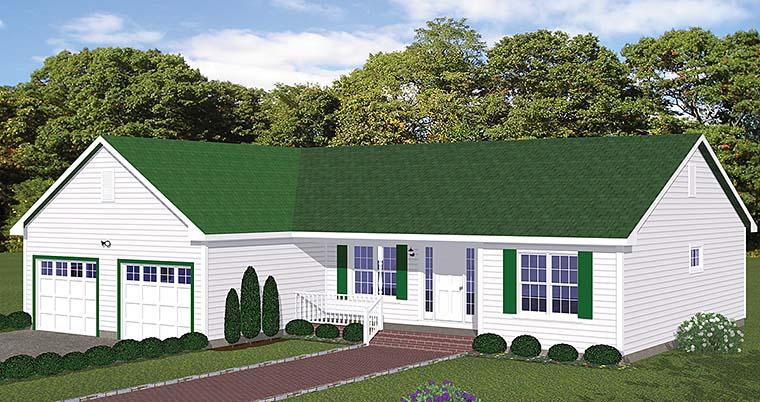 Ranch Tudor House Plan 40606 Elevation