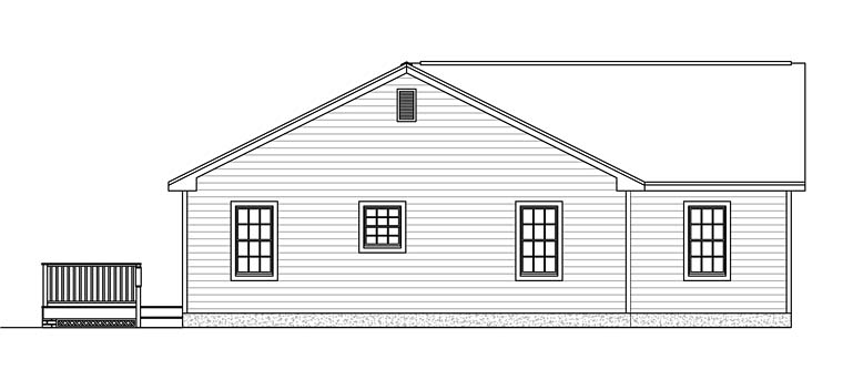 Ranch, Tudor House Plan 40606 with 3 Beds, 2 Baths, 2 Car Garage Picture 1