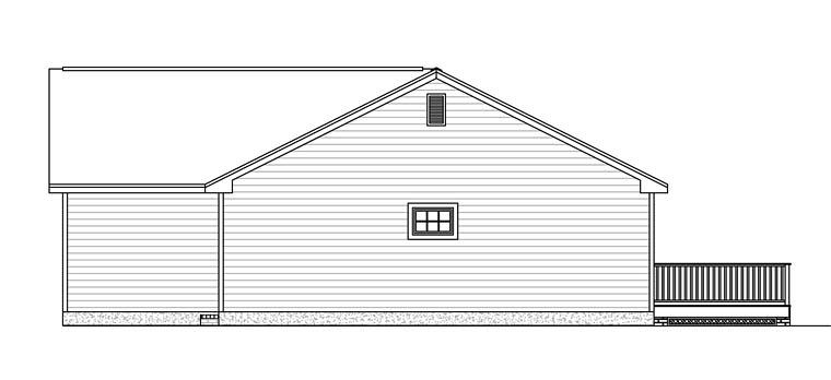 Ranch, Tudor House Plan 40606 with 3 Beds, 2 Baths, 2 Car Garage Picture 2