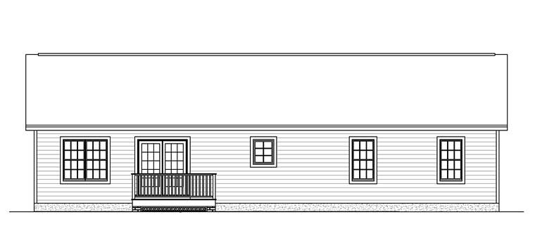 Ranch Tudor House Plan 40606 Rear Elevation