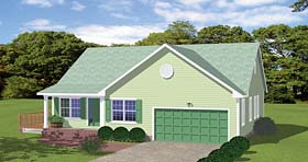 Plan Number 40607 - 1390 Square Feet