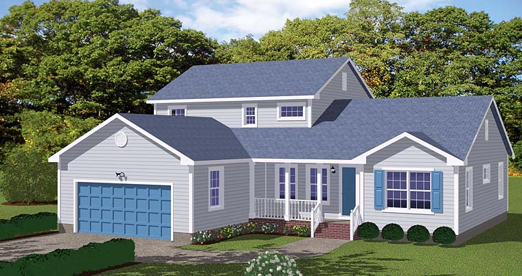 Country Traditional Elevation of Plan 40614