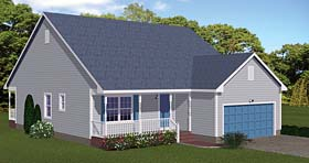 Cabin Ranch Traditional House Plan 40617 Elevation