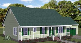 Country Ranch House Plan 40619 Elevation
