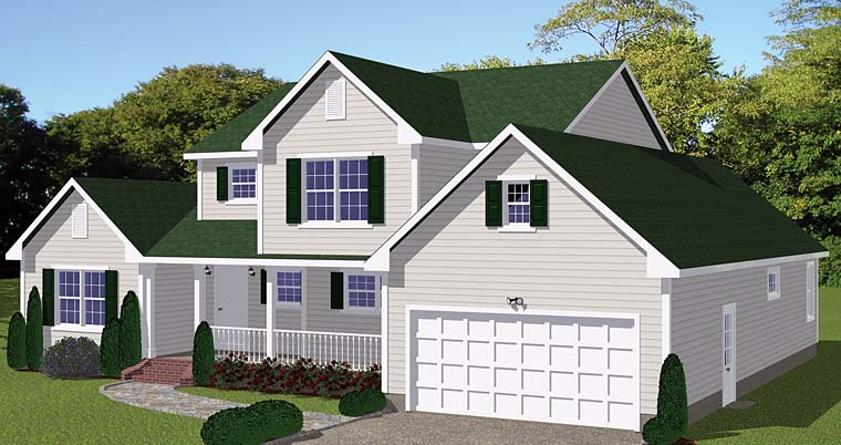 Country Traditional House Plan 40622 Elevation