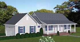 Country Ranch Southern House Plan 40623 Elevation